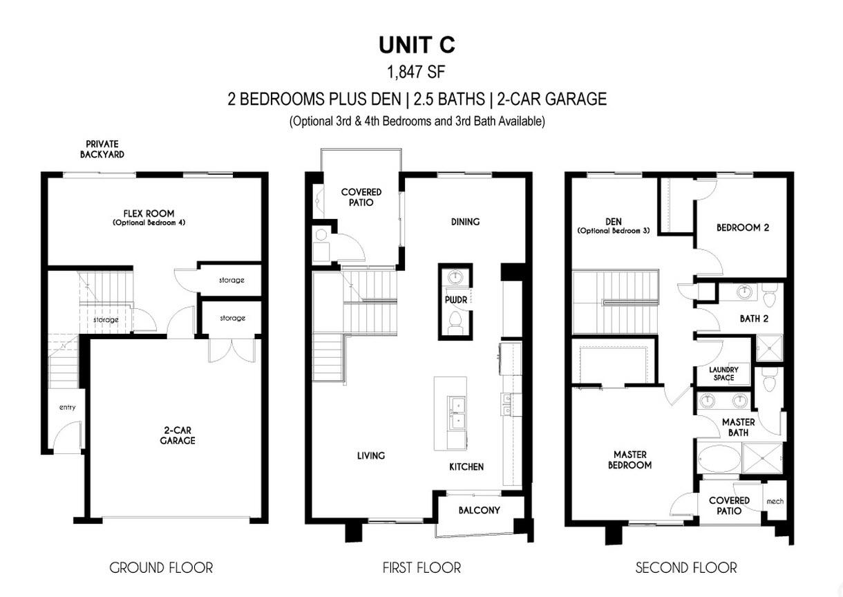 Aerium encore townhomes scottsdale floor plan c