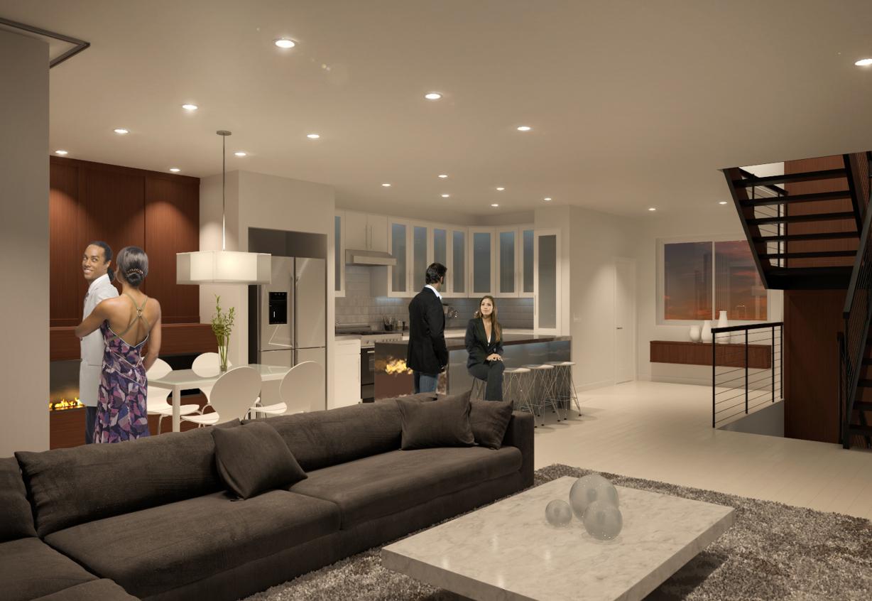 Aerium encore townhomes scottsdale living room floor plan b
