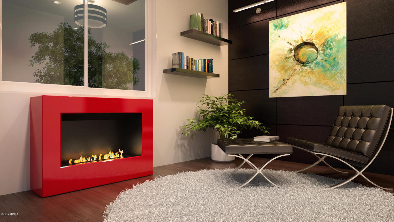 Aerium scottsdale fire place rendering