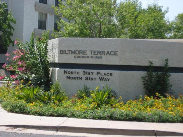 Exterior signage biltmore terrace condos