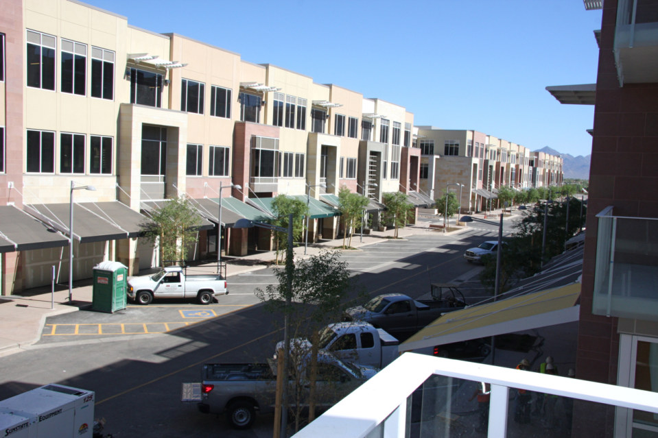 Across street residences on high street condos