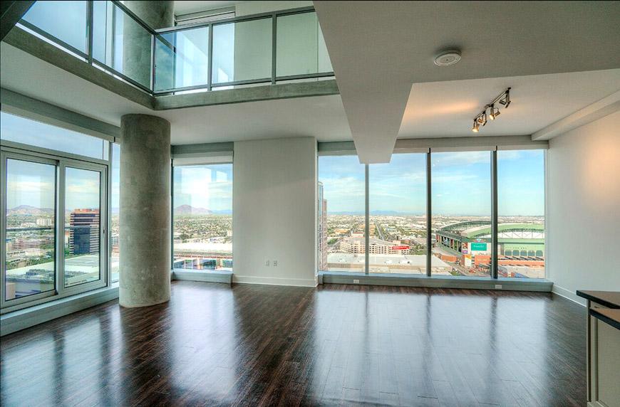 Cityscape interior loft