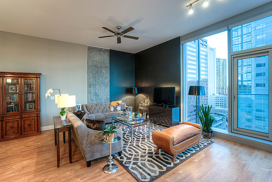 Cityscape one bedroom living