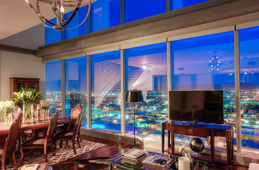 Cityscape penthouse views