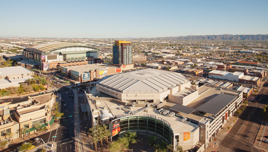 Cityscape phoenix suns arizona diamondbacks