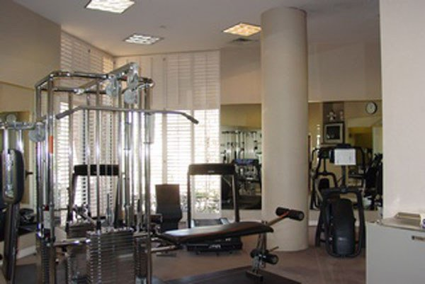 Weight room crystal point condos