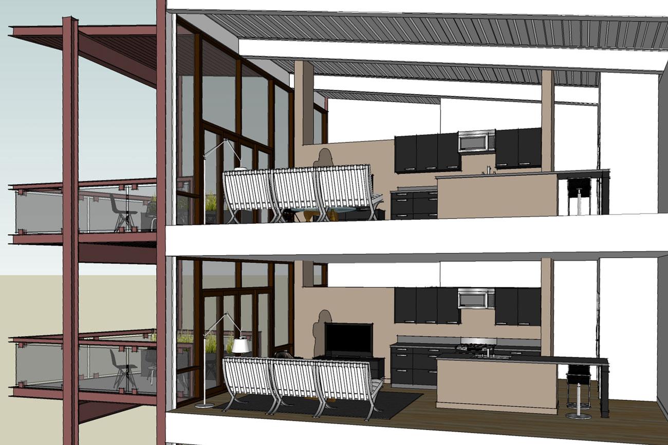 Artist rendering domus condos