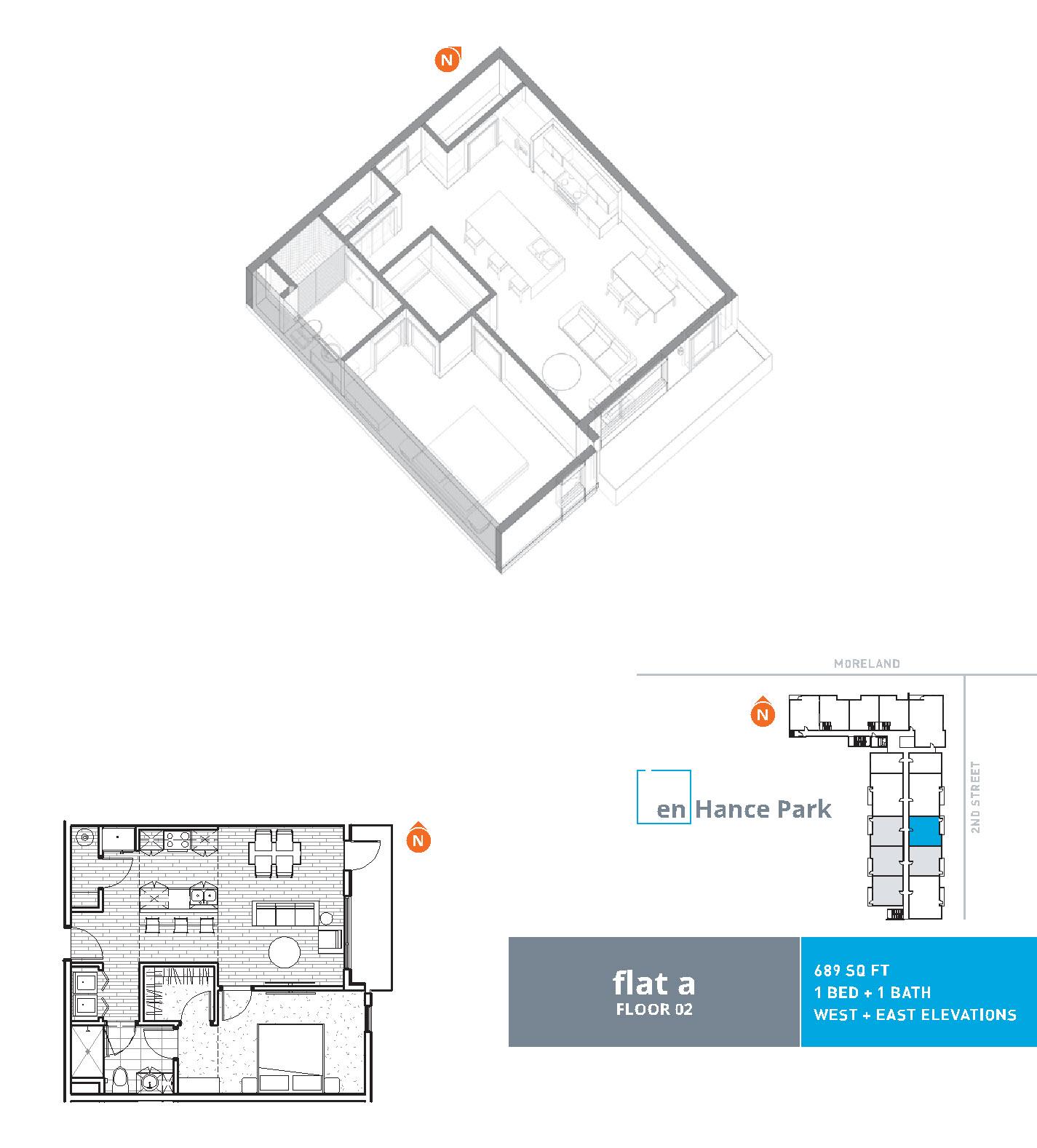 En hance park condo floor plan flat a 1bd