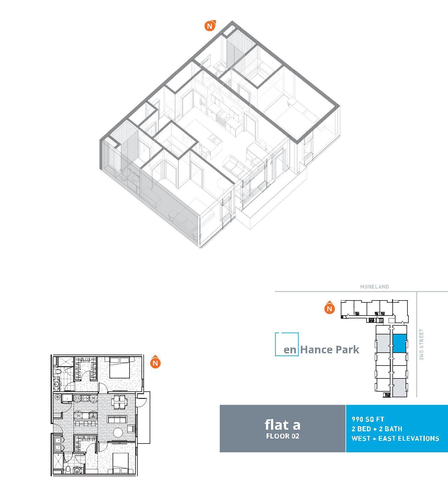 En hance park condo floor plan flat a 2bd