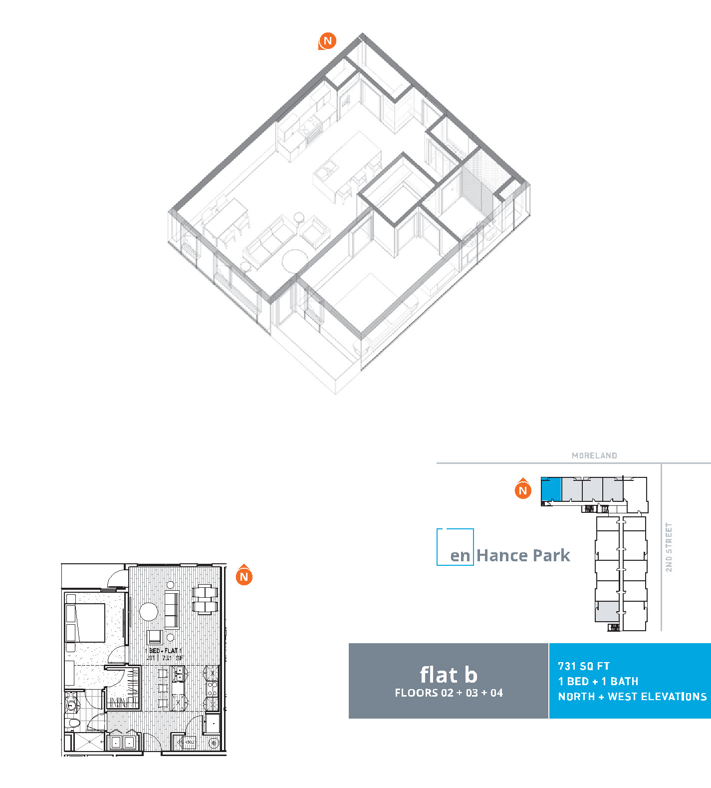 En hance park condo floor plan flat b 1bd