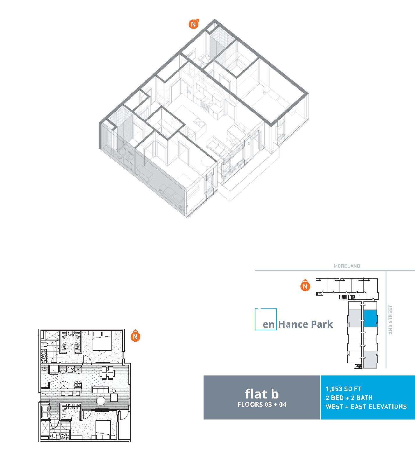 En hance park condo floor plan flat b 2bd