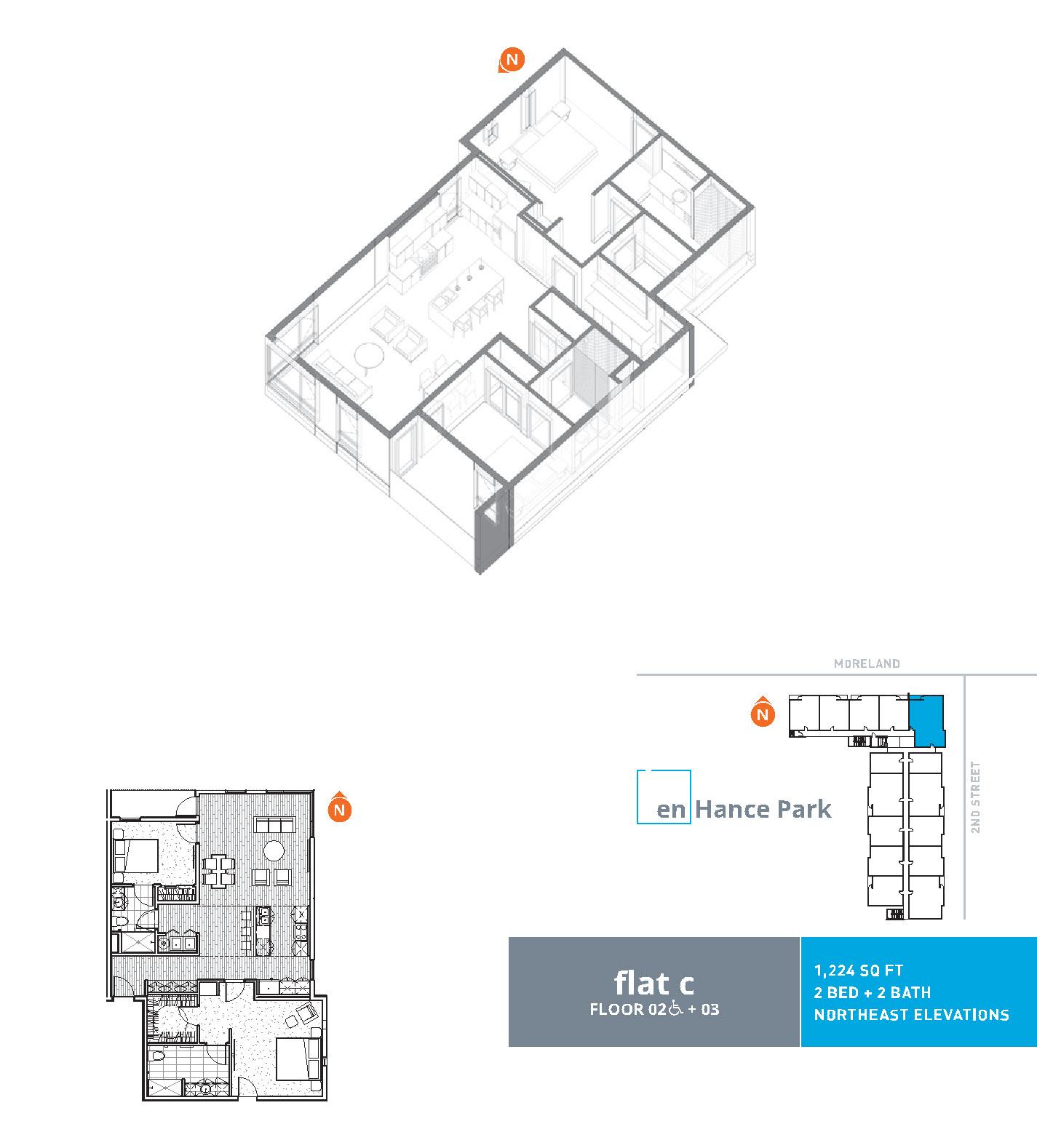 En hance park condo floor plan flat c 2bd