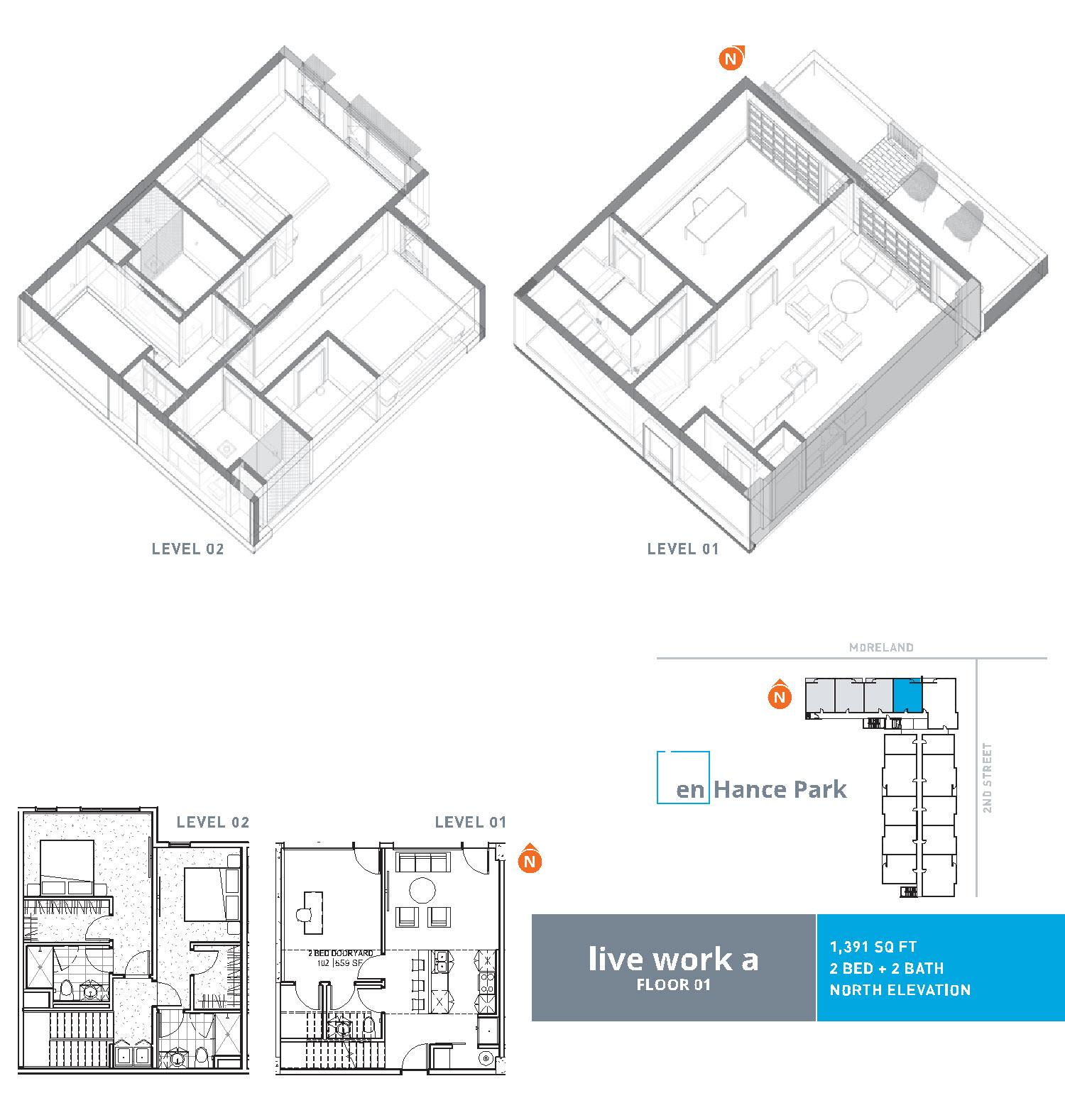 En hance park condo floor plan live work a 2bd