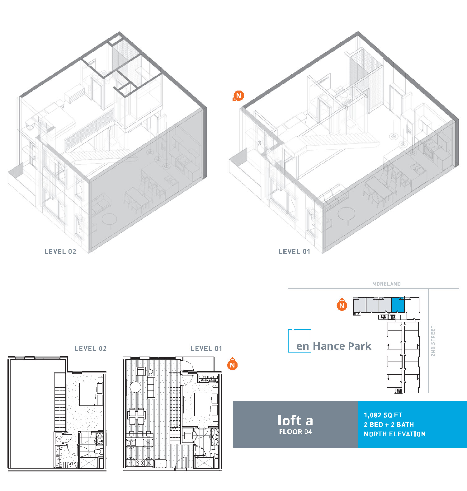 En hance park condo floor plan loft a 2bd