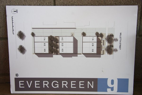 Plan evergreen 9 row homes