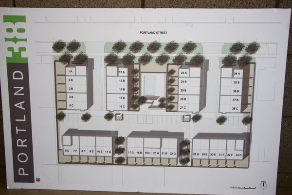 Site plan evergreen 9 row homes