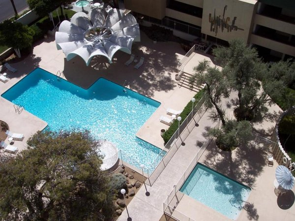 Aerial pool executive towers condos