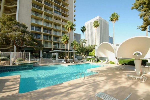 Pool side executive towers condos