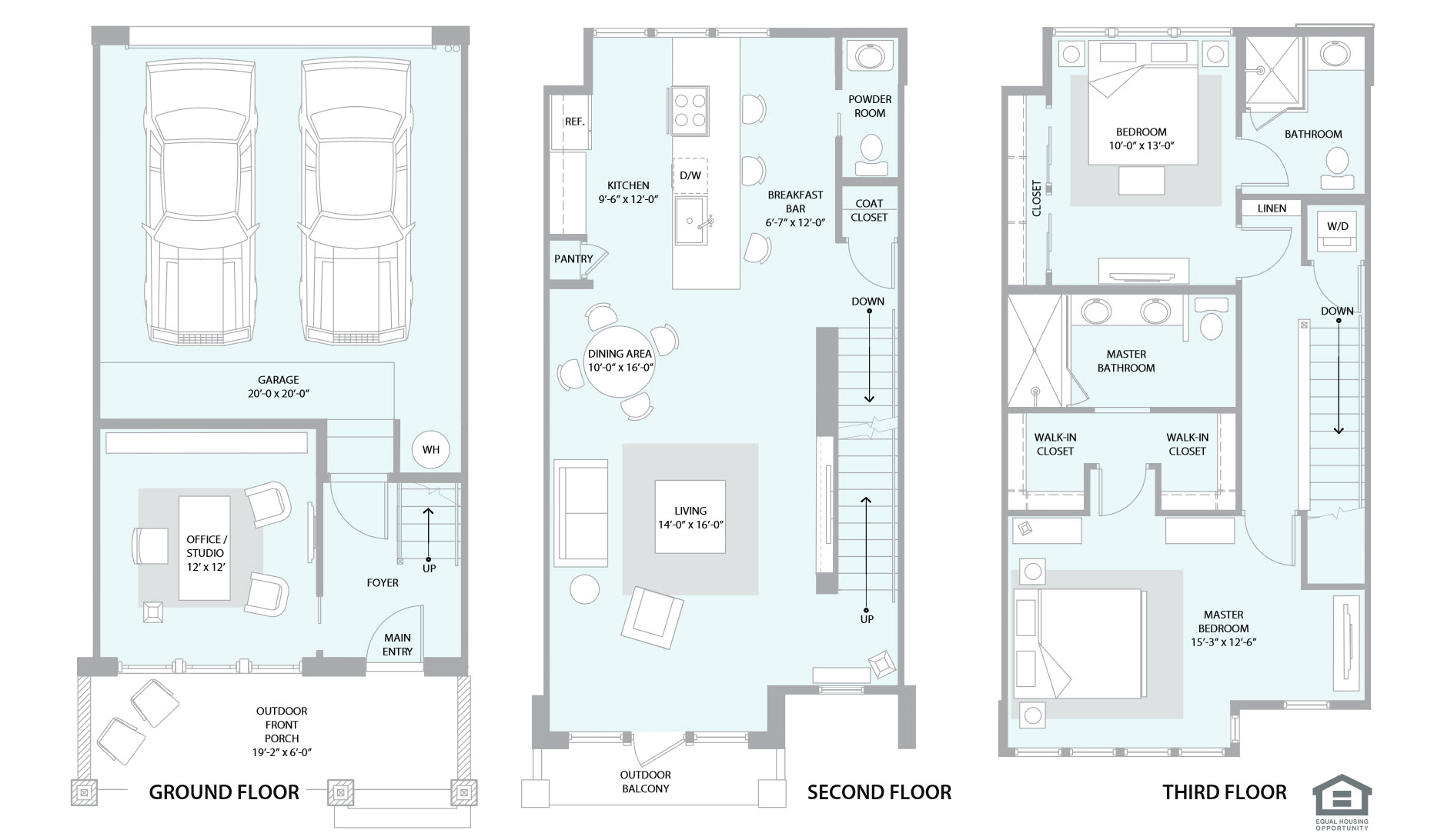 Mckinley row floor plans