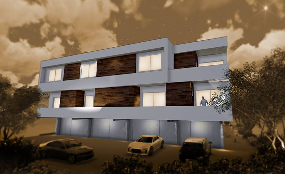 Building rendering mz living townhomes