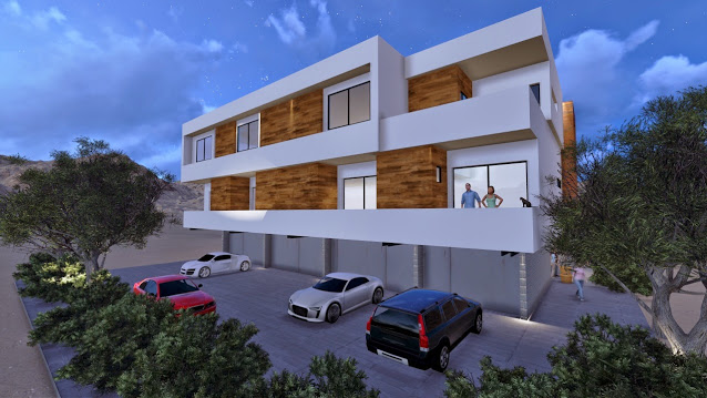Exterior perspective mz living townhomes