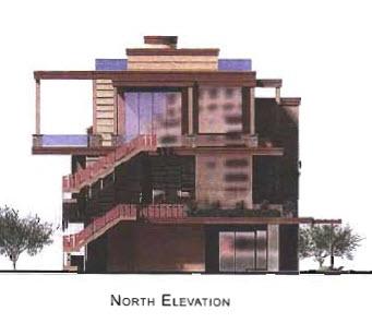 On the waterfront north elevation rendering