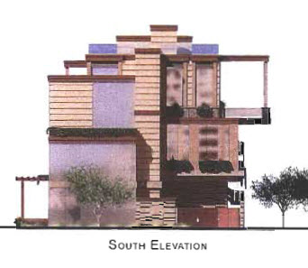 On the waterfront south elevation rendering