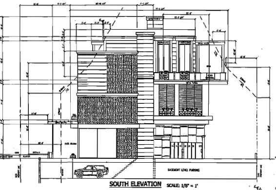 On the waterfront south elevation