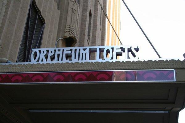 Signage orpheum lofts