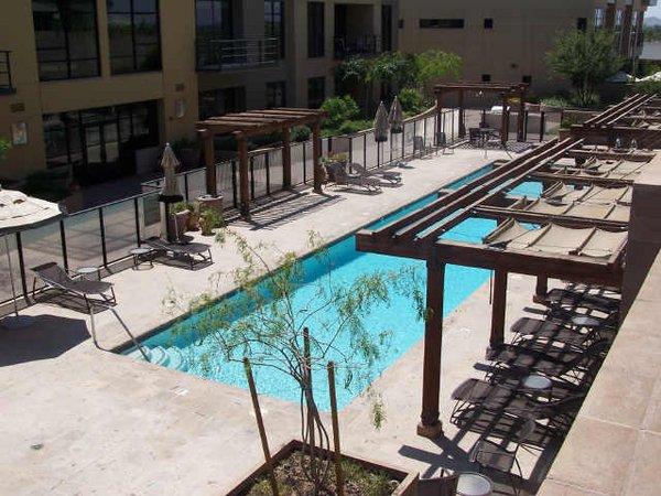 Pool area plaza lofts at kierland lofts