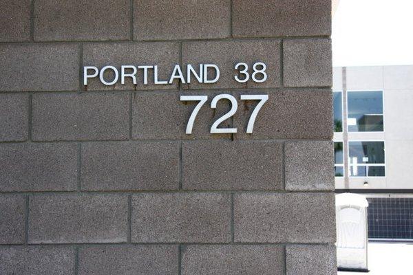 Signage portland 38 row houses