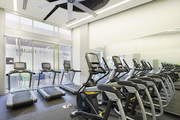 Fitness center roosevelt point condos