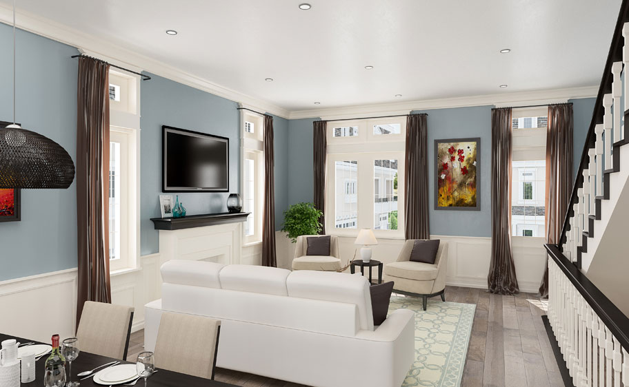 Rosedale residences living room