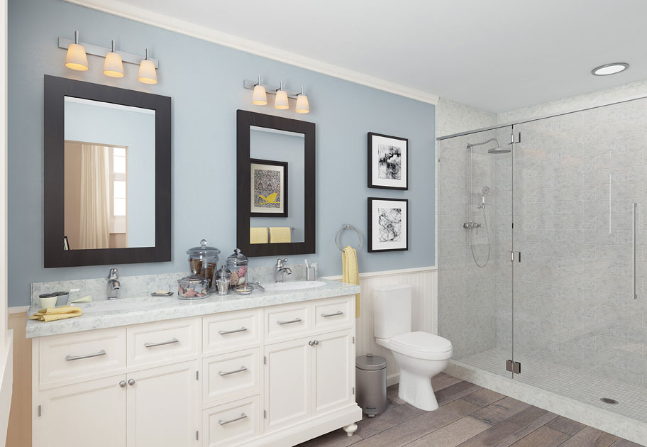 Rosedale residences master bathroom rendering