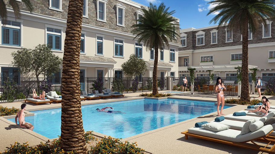 Rosedale residences pool rendering