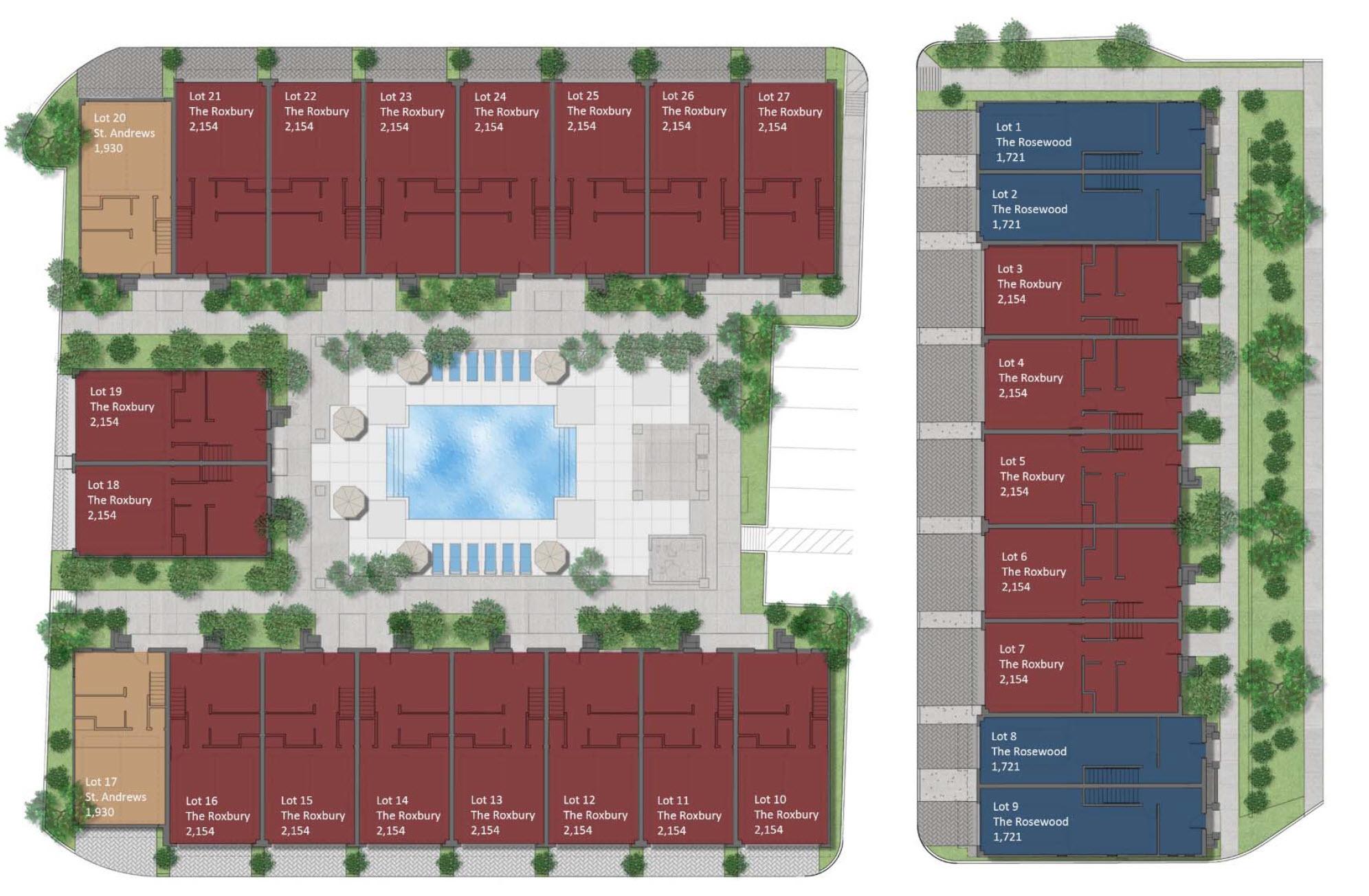 Rosedale residences site plan