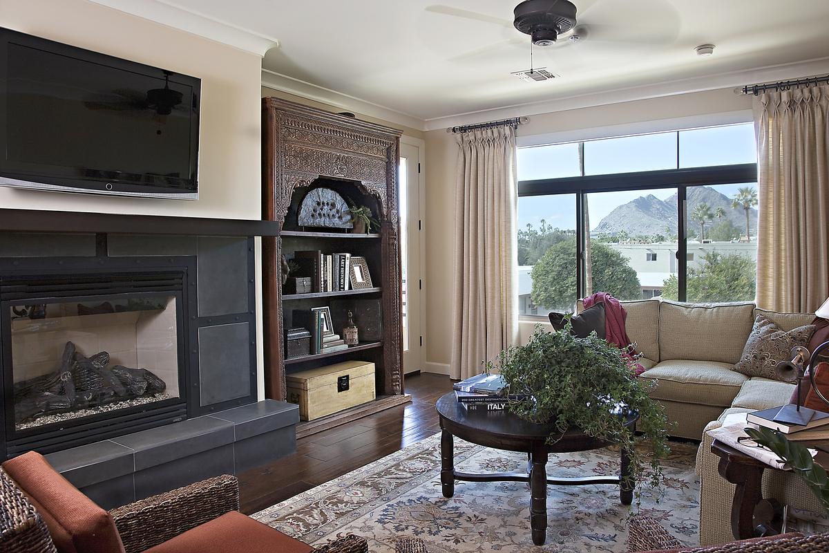 Fireplace sage condos