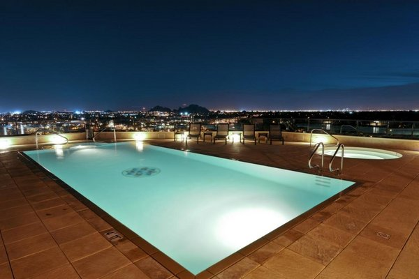 Pool night scottsdale waterfront condos