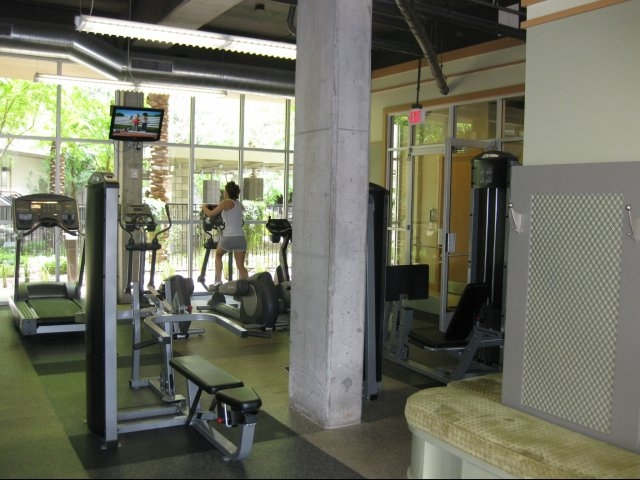 Fitness center skyline lofts