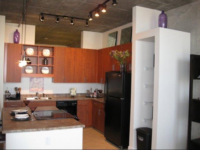 Kitchen area skyline lofts