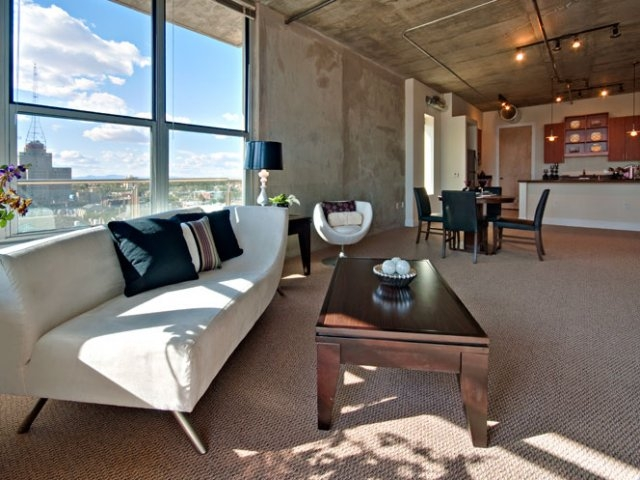 Living room skyline lofts