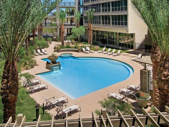 Pool area skyline lofts