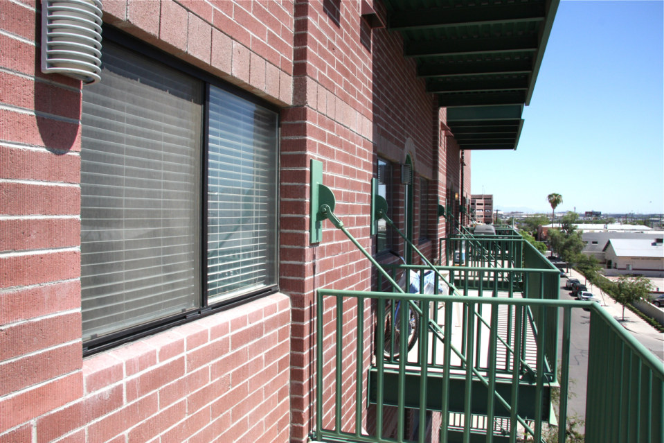Balcony stadium lofts