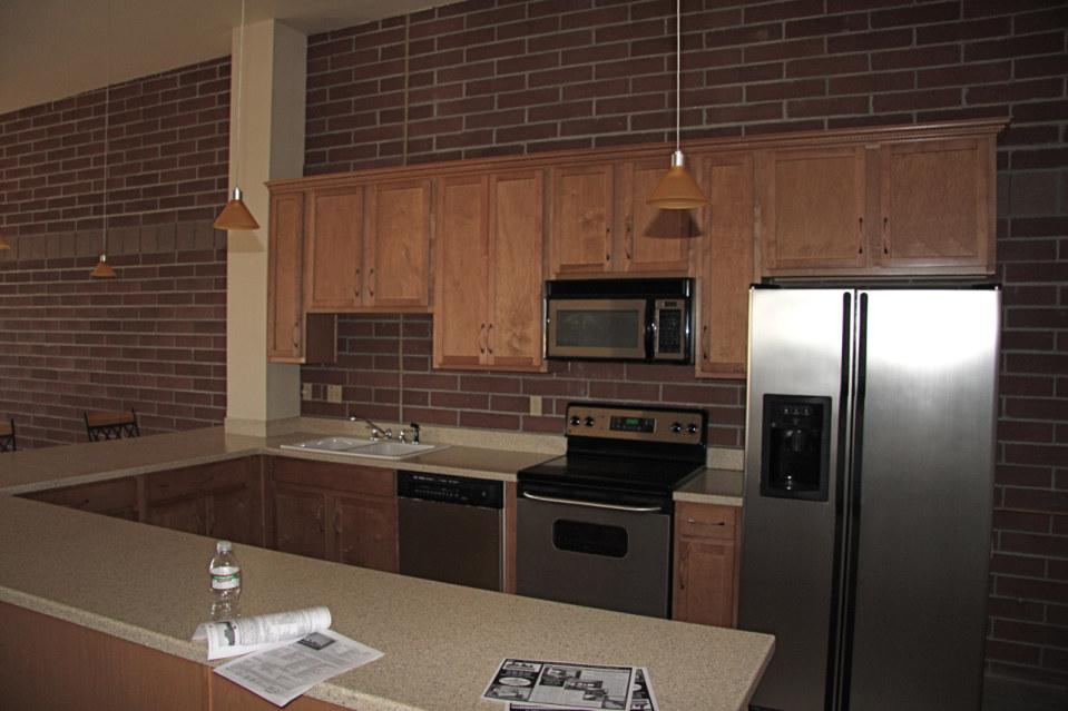 Dining kitchen stadium lofts