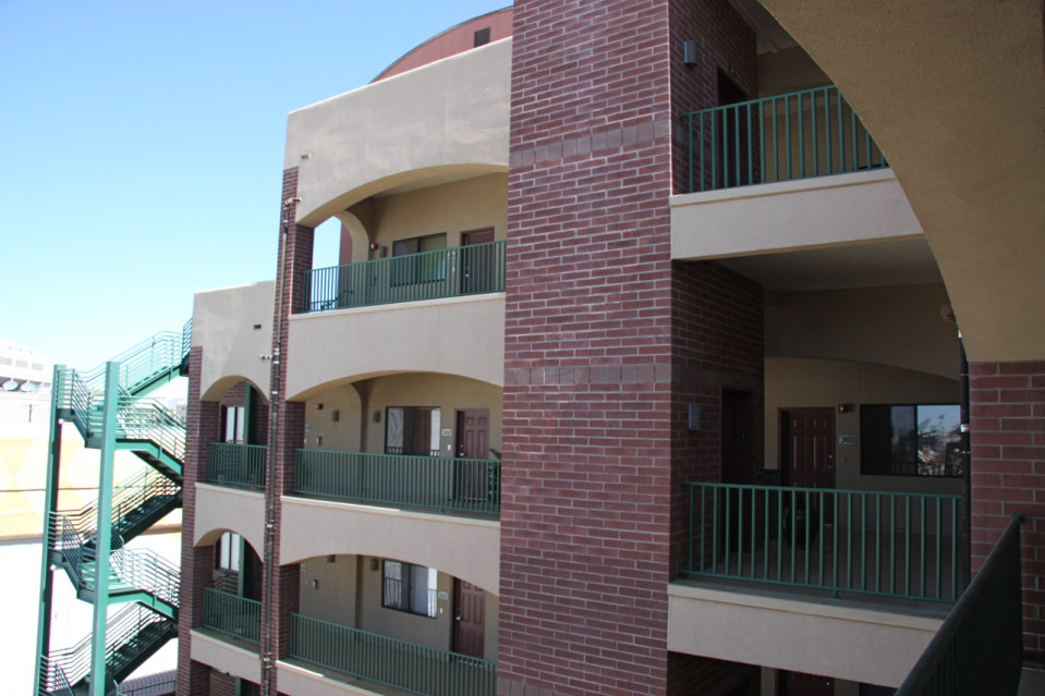 Facade stadium lofts
