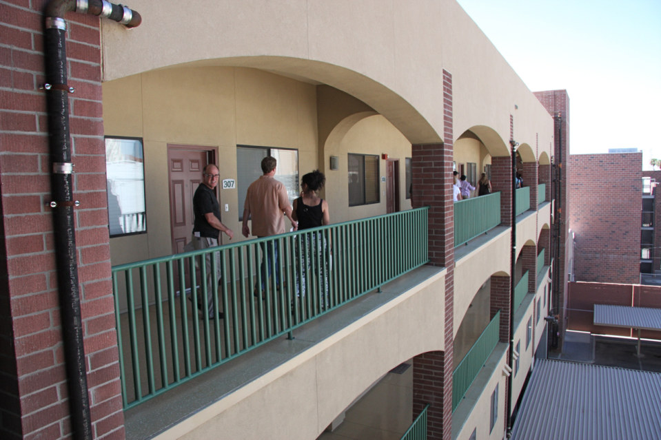 Hallway stadium lofts