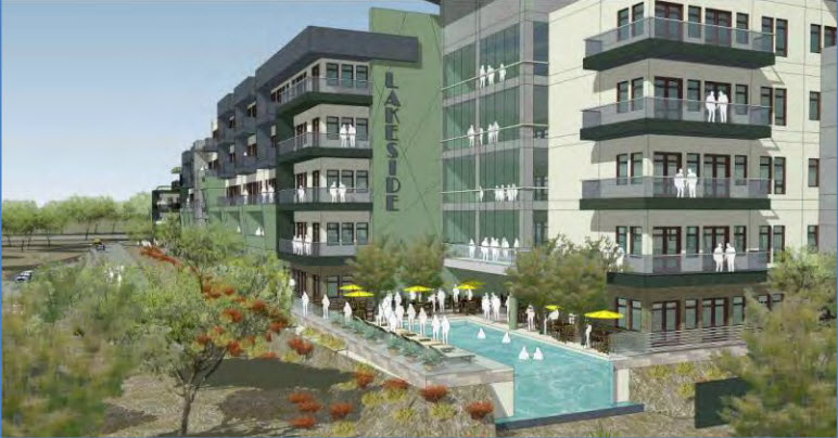 Tempe lakeside apartments artist rendering from south west