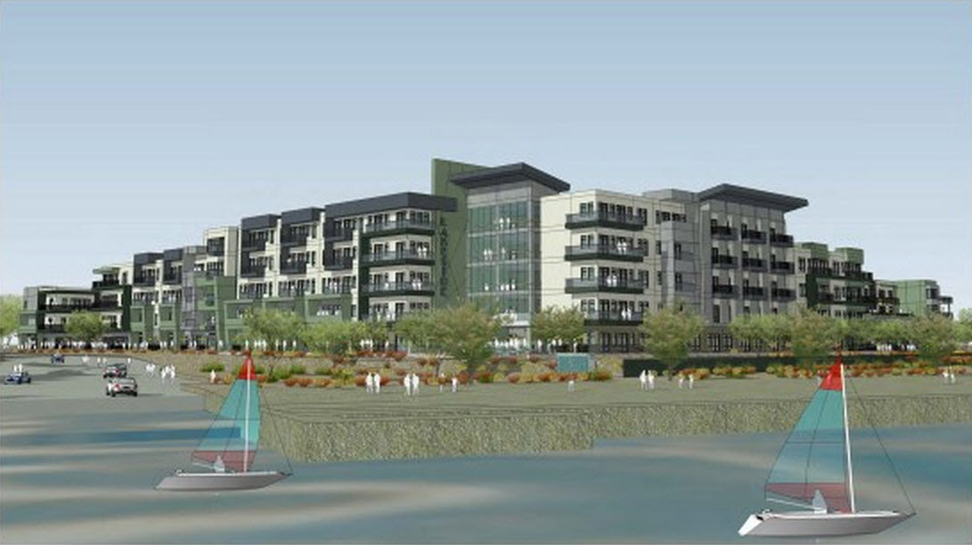 Tempe lakeside apartments artist rendering