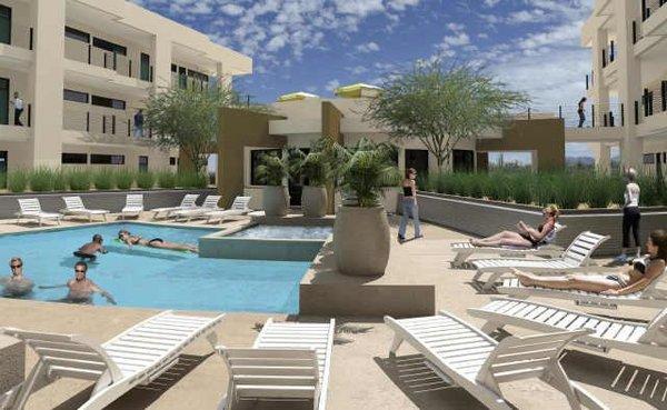 Pool area ten wine lofts