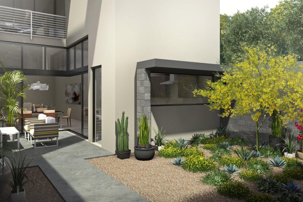 The douglas scottsdale courtyard rendering